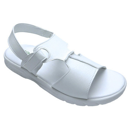 Shez II Ladies White Sandals