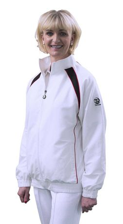 Ladies Ace Sport XV1 Jacket - Red & Black Trim