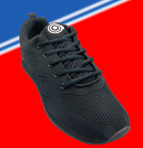 Gents Dek Target Black lace up Trainer