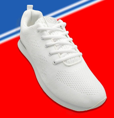 Gents Dek Target White lace up Trainer