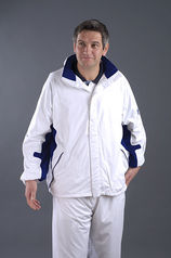Flexi Dri Waterproof Jacket - White/Blue (Unisex)