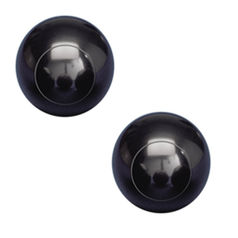 Scottish Carpet Bowls Black Pair
